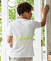 1PIU1UGUALE3 RELAX(ウノピゥウノウグァーレトレ) ネオンカラーロゴプリントTシャツ ust-943w ホワイト×イエローM