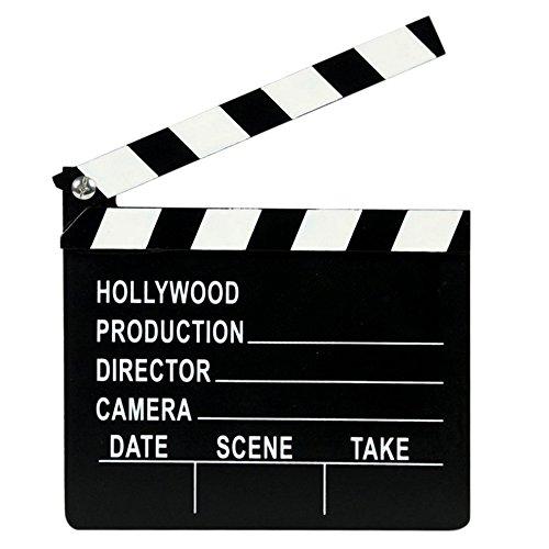 TRIXES Novedosa Pizarra de Directores de Cine Indicando Próxima Escena - Claqueta Cine - Luz Cámara Acción - Fiestas Fotos VIP Hollywood Recreación Utilería