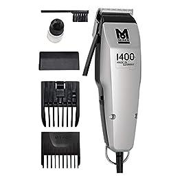 Moser 1400 Silver Edition – Tondeuse à cheveux filaire, Blanc
