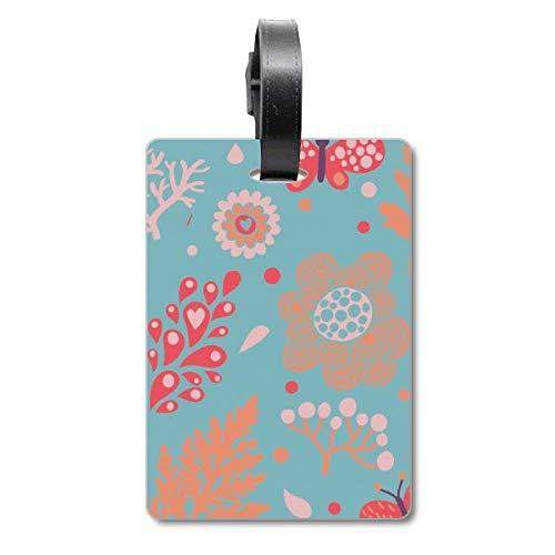 Etichette per bagagli a forma di foglie, colore blu, per fiori e piante