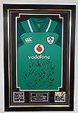 www.signedmemorabiliashop.co.uk Maillot dédicacé du rugby Irlande 2018 Grand SLAM