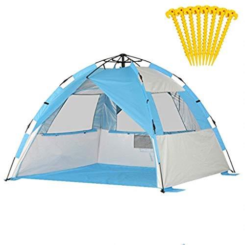 CS-LJ Tente de Plage Tente de pêche extérieure Tente Easy Festival 3-4 Personnes - pour l'été