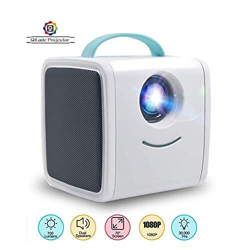 Sweet Mini Beamer,Projector Hd,Mini-Projektor UnterstüTzt Hd 1080p UnterstüTzt Pc/Mac/Tv/DVD USB Sd Av Hdmi Heimkino-VerstäRker