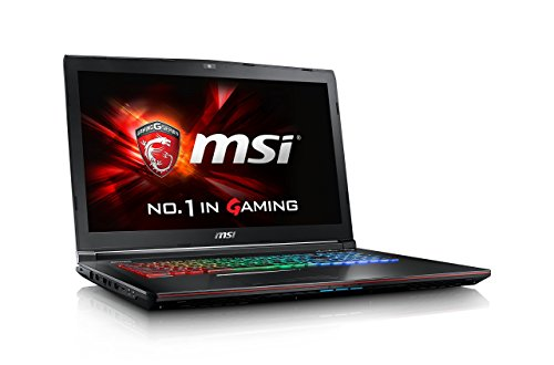 MSI GE72-6QD8H21 001795-SKU1105 43,9 cm (17,3 Zoll) Laptop (Intel Core i7 6700HQ, 8GB RAM, 1TB HDD, 256GB SSD, NVIDIA GeForce GTX 960M, 2 GB GDDR5 VRAM, Win 10 Home) schwarz/rot/gebürstetes aluminium