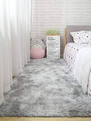 Woonkamer tapijt slaapkamer bed mat eenvoudig modern grijs huishouden vloerkleed zachte huidvriendelijke multi-zone gebruik deken, 5,80 cm x 160 cm