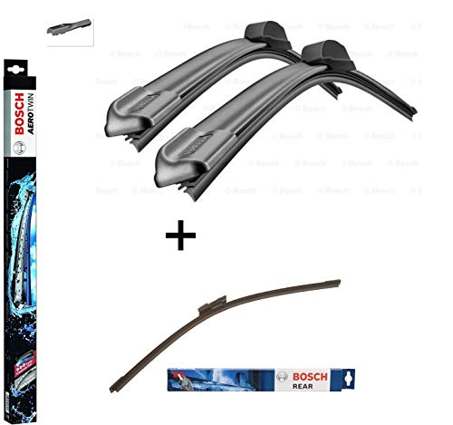 BOSCH Scheibenwischer Set für vorne + hinten Bosch AeroTwin A821S und A403H (3397009821 Längen: 600/600 mm und 3397008998 Länge: 400 mm)