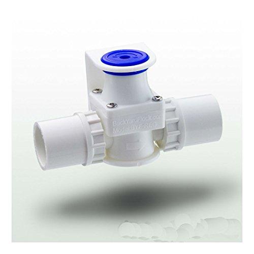 BYF Low Pressure Reducing PVC Water Regulator for Chicken Drinkers - Nipples + Cups