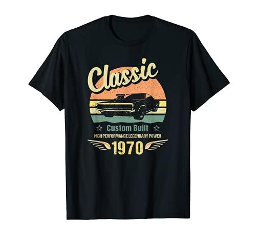 Coche clásico 50Th cumpleaños personalizado construido en 1970 Camiseta