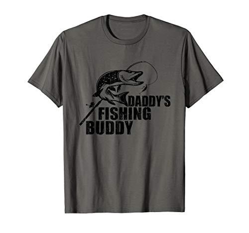 Kids Daddy's Fishing Buddy Matching Family Gifts Fathers Day T-Shirt