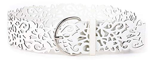 Pin de plata hebillas de cinturones Punk recorte flor cummerbund decoración correa ancha pines correa de diseño hueco de las mujeres vestidos cinto dama