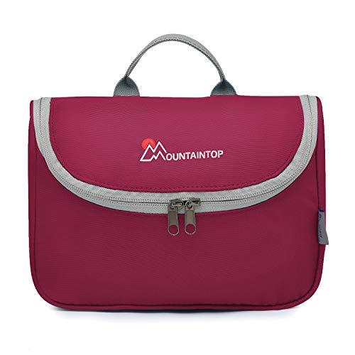 Mountaintop Kulturbeutel Kosmetiktasche Kulturtasche zum Aufhängen Toiletry Bag Waschtasche für Reise Urlaub, 23.5 x 6 x 17 cm (A - Rose)