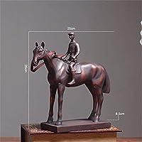 彫像置物彫刻樹脂装飾戦争馬像ヴィンテージ馬像家の装飾アクセサリー動物像樹脂抽象像、S