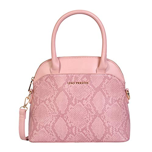 Lino Perros Womens Blue Synthetic Leather Satchel (PINK)