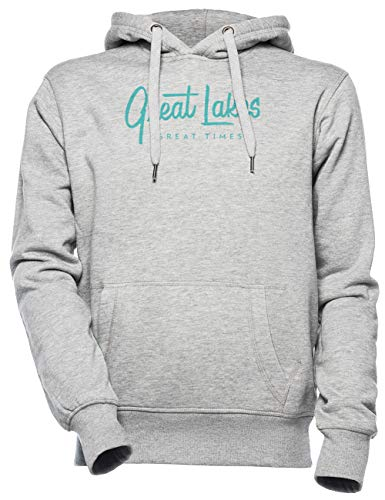 Great Lakes, Great Times - Typography Unisexo Hombre Mujer Sudadera con Capucha Gris Unisex Men