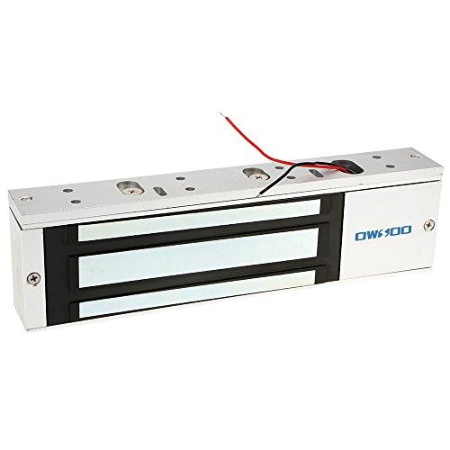 OWSOO Magnetschloss Elektrische 500KG 1200lbs Haltekraft für Tür Zutrittskontrollsystem Elektromagnet Ausfallsichere NC-Modus