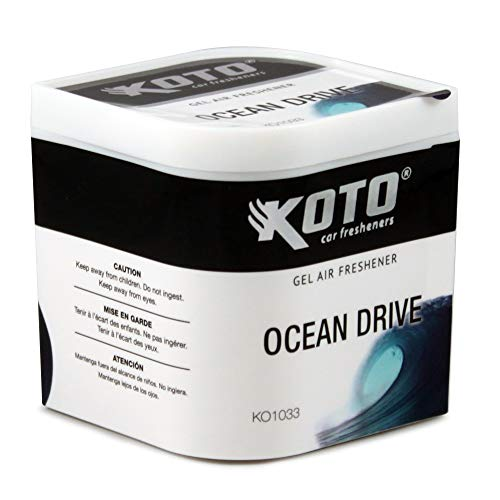 Discover Bargain Koto Gel Air Pro Car Air Freshener Ocean Drive Scent, Lasts Up To 60 Days, Solid Ge...