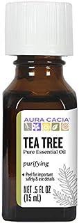Aura Cacia 100% Pure Tea Tree Essential Oil | GC/MS Tested for Purity | 15 ml (0.5 fl. oz.) | Melaleuca alternifolia