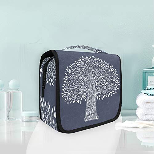 Trousse de maquillage de maquillage Floral Season Tree Sac de toilette de voyage portable