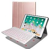 Wireless Keyboard for iPad, 9.7 iPad Keyboard Case Built-in Apple Pencil Holder Detachable