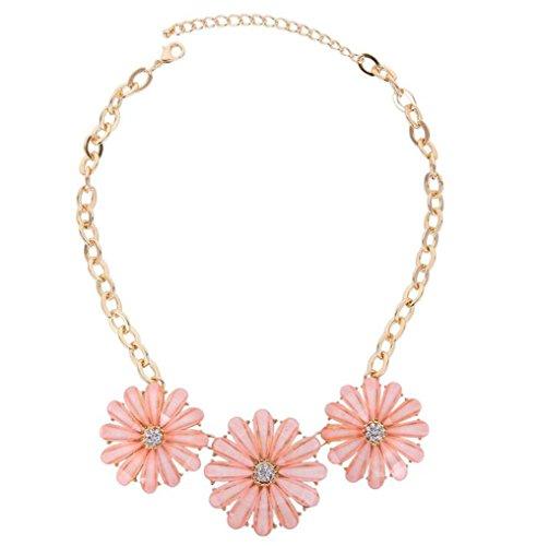 Demarkt–Flores Collar Collar Colgante Collar Collar Joyas Color Rosa