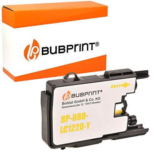 Bubprint Druckerpatrone kompatibel für Brother LC-1220 LC-1240 LC1220Y LC1240Y für MFC-J430W MFC-J5910DW MFC-J6510DW MFC-J6710DW MFC-J825DW Gelb