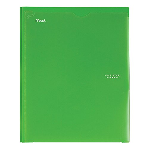 Five Star 2 Pocket Folder with Prong Fasteners, Folder with Pockets, Customizable Cover, Plastic, Color Selected for You, 1 Count (34136) Photo #4