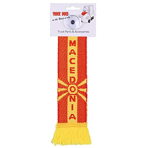 TRUCK DUCK® LKW Auto Minischal Mazedonien Macedonia Mini Schal Wimpel Flagge Fahne Saugnapf Spiegel Deko