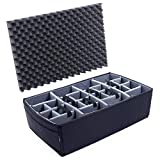 Grey CVPKG Padded dividers for The Pelican 1650 case. (with lid Foam)
