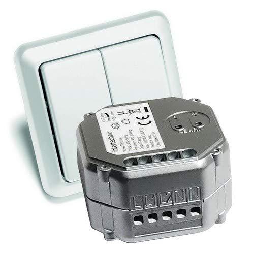 WeBaSo Funk-Sparset-12 Intertechno Serien-Funkschalter ITL-2000 mit 2-fach Funk-Wandsender