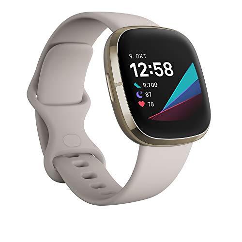 Fitbit Sense - fortschrittliche Gesundheits-Smartwatch mit Tools für Herzgesundheit, Stressmanagement & zur Anzeige von Hauttemperatur-Trends