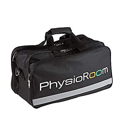 PhysioRoom Sports Medical First Aid Bag - Large, Lightweight, Easy Carry, Showerproof Nylon, Multiple Compartments - Storage for Injury Supplies and Equipment - Touchline Kit Bag, Football (Empty) from PhysioRoom