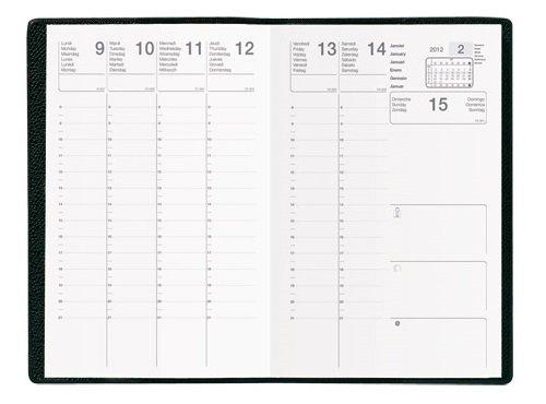 Sept 27 agenda scolaire 2021 2022 - coloris noir - format 21x27 cm - 1 semaine sur 2 pages