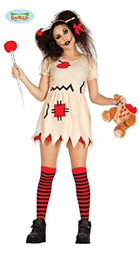 Psycho Puppen Halloween Kostüm für Damen Horror Puppe Halloweenkostüm Puppenkostüm Damenkostüm Gr. S-M, Größe:S