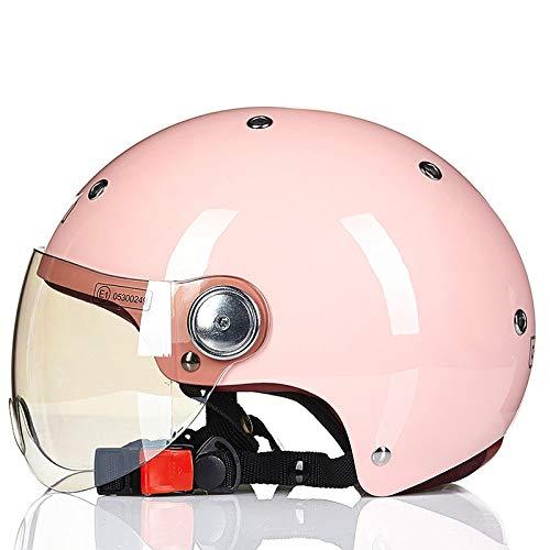 Berrd Mezzo casco per uomo e donna per quattro stagioni mezzo casco coperto per casco per auto elettrica, protezione solare estiva leggeracasco blauer jet