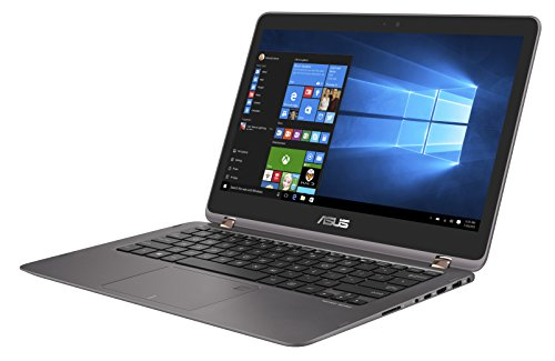 Asus Zenbook Flip UX360UAK-BB351T 33,7 cm (13,3 Zoll mattes FHD, Touch) Laptop (Intel Core i5-7200U, 8GB Arbeitsspeicher, 256GB SSD Festplatte, Intel HD Grafik, Win 10) grau