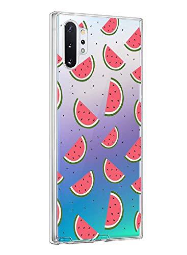 Oihxse ersatz für Galaxy Note 10 Hülle,Galaxy Note 10 Hülle Weiche Ultra Dünn Handyhülle Slim Silikon TPU Flex Transparent Gel Case Soft Clear Kratzfeste Stoßfest Premium Schutzhülle (Wassermelone)