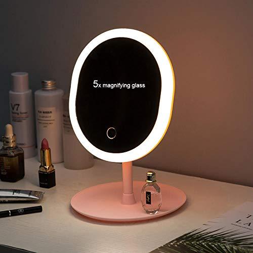 breaxme Miroir De Table avec Éclairage, Miroir Debout, Lumière D'Appoint, Maquillage, Adapté Aux Élèves, Maquillage pour Les Yeux, Rasage