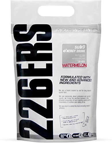 226ERS Sub9 Energy Drink with Whey Protein, BCAAs, Amylopectine, Taurine y L-Carnitine, Watermelon - 1000 gr
