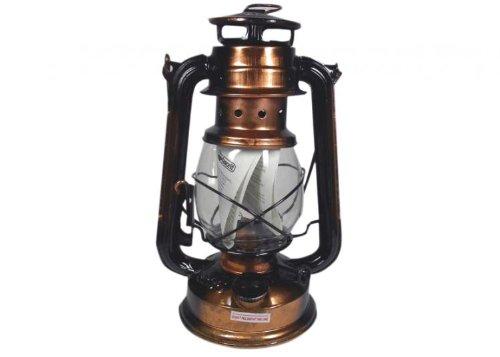 Favorit 2037A Sturmlaterne 25 cm Antik; gemütliche Gartenlaterne mit einstellbarer Dochthöhe; zum Befüllen mit Lampenöl; inkl. Bügel zum Tragen und Aufhängen; nach DIN 14059