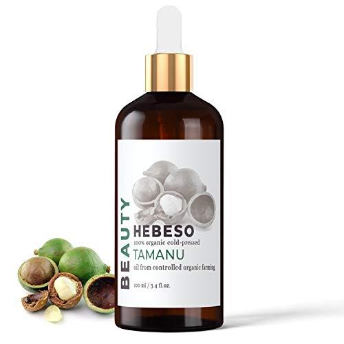 Tamanuöl 100% Rein & Natürlich Kaltgepresst 100ml | Tamanu Öl hilft bei der Behandlung der erkrankten Nagelplatte, Akne, Pickeln, allergischen Hautveränderungen, Pilzbefall