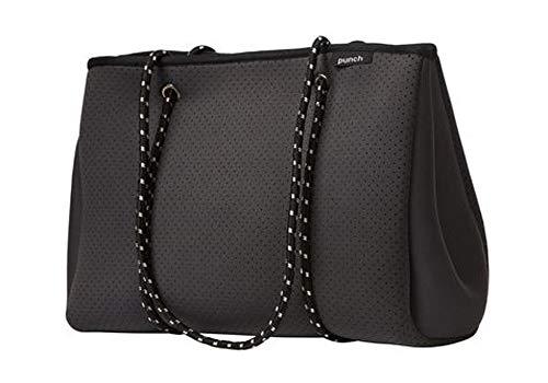Punch Neoprene Tote Bag Charcoal 34x26x16cm Bolsa de tela y playa, 34 cm, Gris (Charcoal)