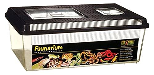 Exo Terra Faunarium flach groß - Allzweckbehälter für Reptilien, Amphibien, Mäuse und Insekten