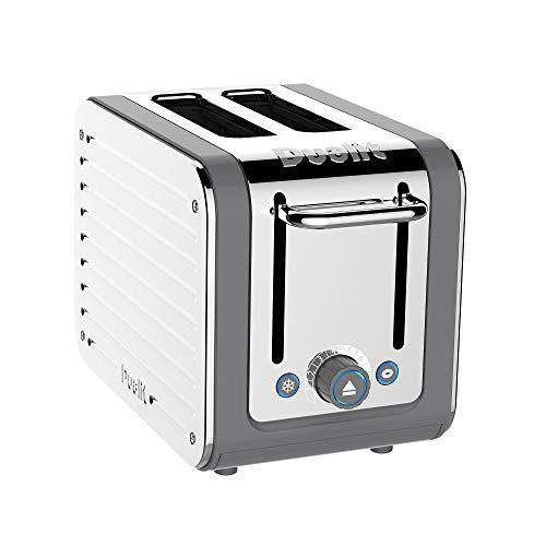 Dualit Architect 2 Scheiben Toaster Edelstahl mit grauem Rand extra breite Schlitze, Peek und Pop Funktion, patentierte ideale Toasttechnik - passender Wasserkocher und Sandwichkäfig erhältlich | 26526