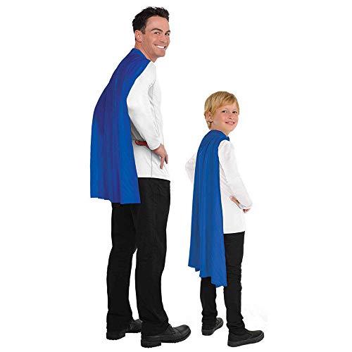 "Amscan Solid Color Super Hero Costume 30"" Cape, Blue"