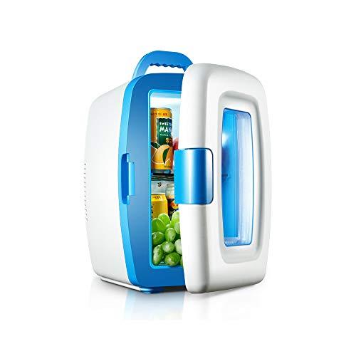 Mini réfrigérateur, réfrigérateur et radiateur thermoélectriques, 10 litres - Pour voiture et chambre à coucher - Compact et portable - Porte visible, comprend des fiches pour chargeur de voiture 12 V