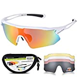 HUBO SPORTS Cycling Glasses, TR90 Unbreakable Frame Polarized Sports...