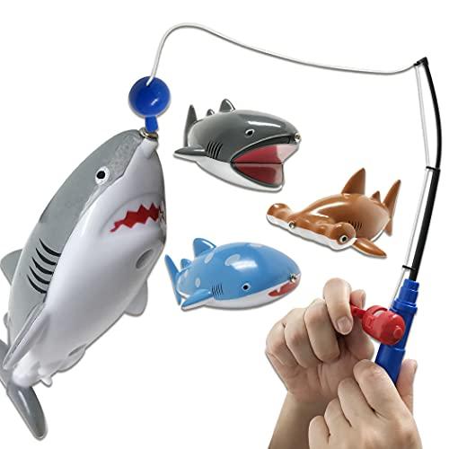 【釣って遊ぼう!サメ釣り名人】 魚釣り ゲーム おもちゃ フィッシング マグネット お風呂 プール 水遊び 子供用 (サメ4種)