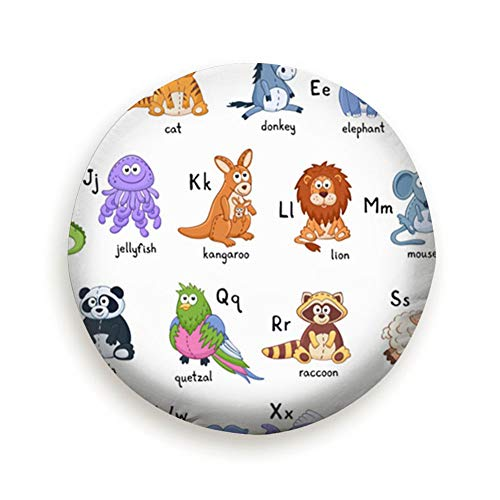 """smartgood Funny Animals Alphabet Cute Cartoon Wildlife Animal Spare Wheel Tire Cover Waterproof Dust-Proof Universal for Jeep,Trailer, RV, SUV and Many Vehicle 14"""" 15"""" 16"""" 17"""""""