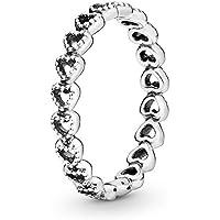Pandora - Anillo de plata 925 para mujer, talla 58 (18,5)-190980-58