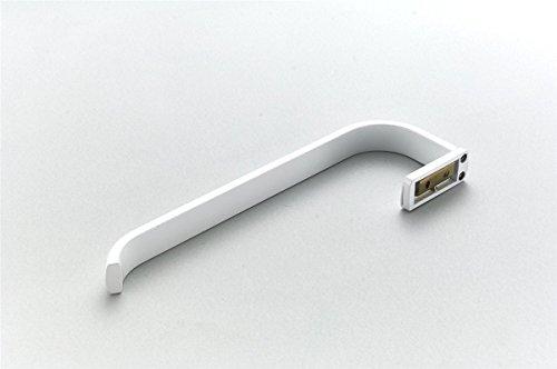 Bathfirst Handtuchhalter einzelne Messing weiß 61 CM/24 Inchs Wand für Bad und Küche 2